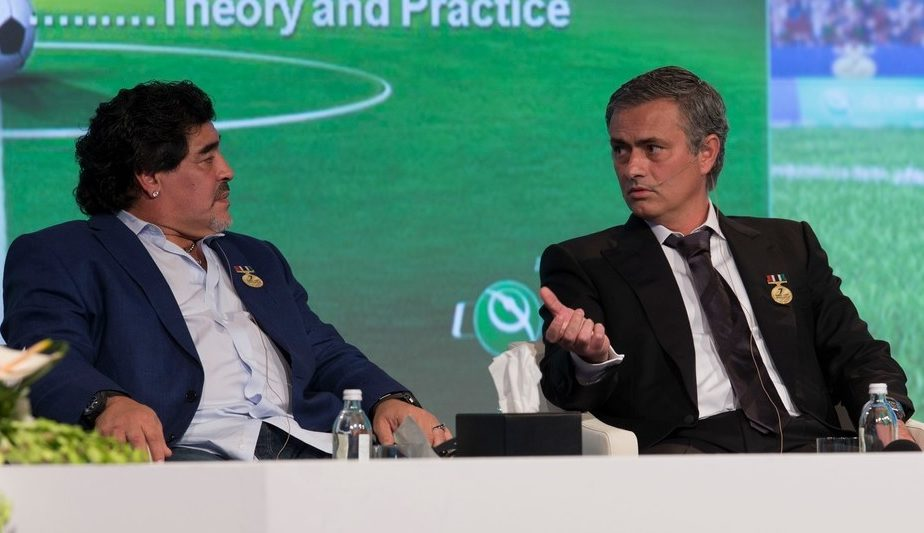 """""""Diego nu suna niciodată după victorii"""". Jose Mourinho, amintiri despre Maradona. Relația dintre The Special One și El Pibe D'Oro"""