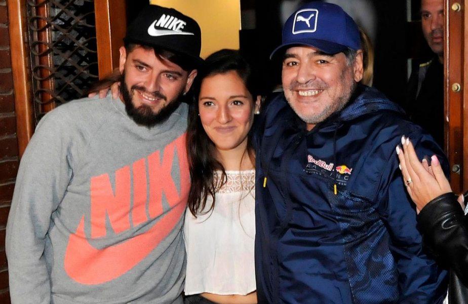 """""""Încă mi se pare că este un vis oribil!"""" Cui a mulţumit fiica cea mică a lui Diego Maradona. Fiul din Italia, promisiune tulburătoare"""
