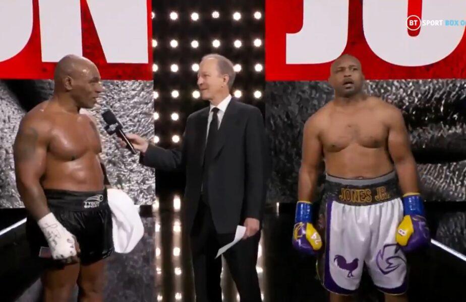 Reacția lui Mike Tyson, după ce meciul a fost declarat egalitate, deși l-a dominat pe Jones!