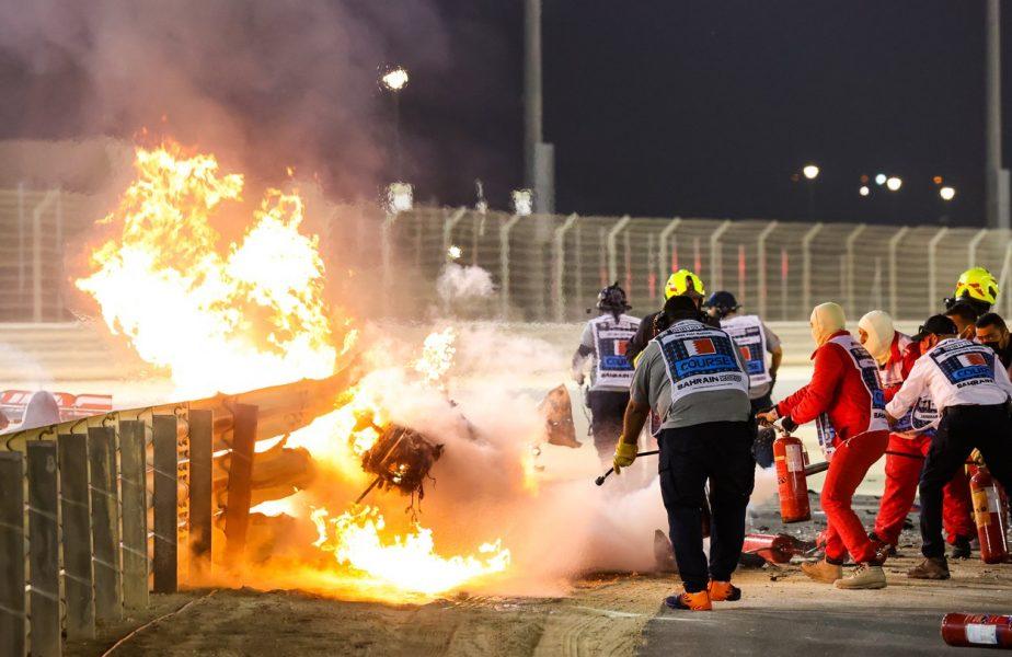 Accident groaznic în Formula 1! Mașina lui Romain Grosjean a luat foc! Pilotul a scăpat ca prin minune! Reacția lui Hamilton