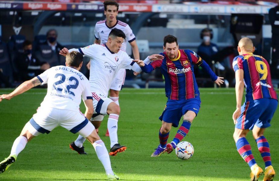 Lionel Messi a dat cu Osasuna un gol în oglindă cu unul marcat de Diego Maradona. Imaginile care au devenit virale în toată lumea