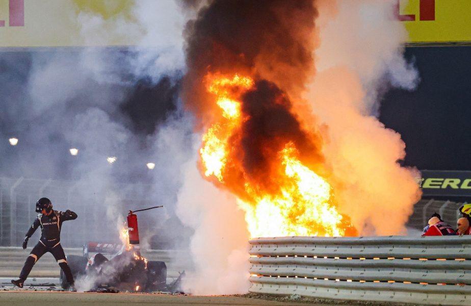 Prima reacţie a lui Romain Grosjean după ce a scăpat ca prin minune de flăcările din MP al Bahrainului. Mesajul de pe patul de spital