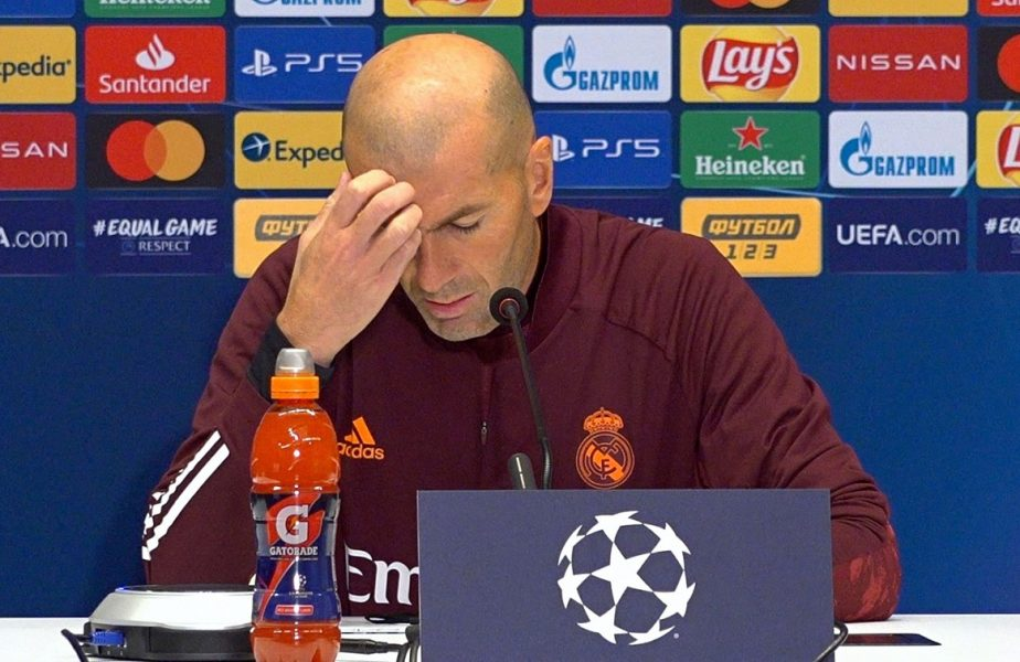 Real Madrid traversează cel mai negru moment din istorie. Zidane nu demisionează! Calculele în grupa în care Inter e pe ultimul loc