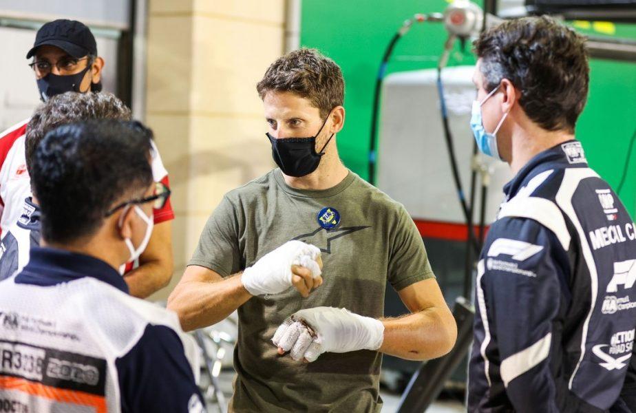 VIDEO | Romain Grosjean le-a mulțumit salvatorilor săi! Scene emoționante cu pilotul implicat în groaznicul accident de Formula 1