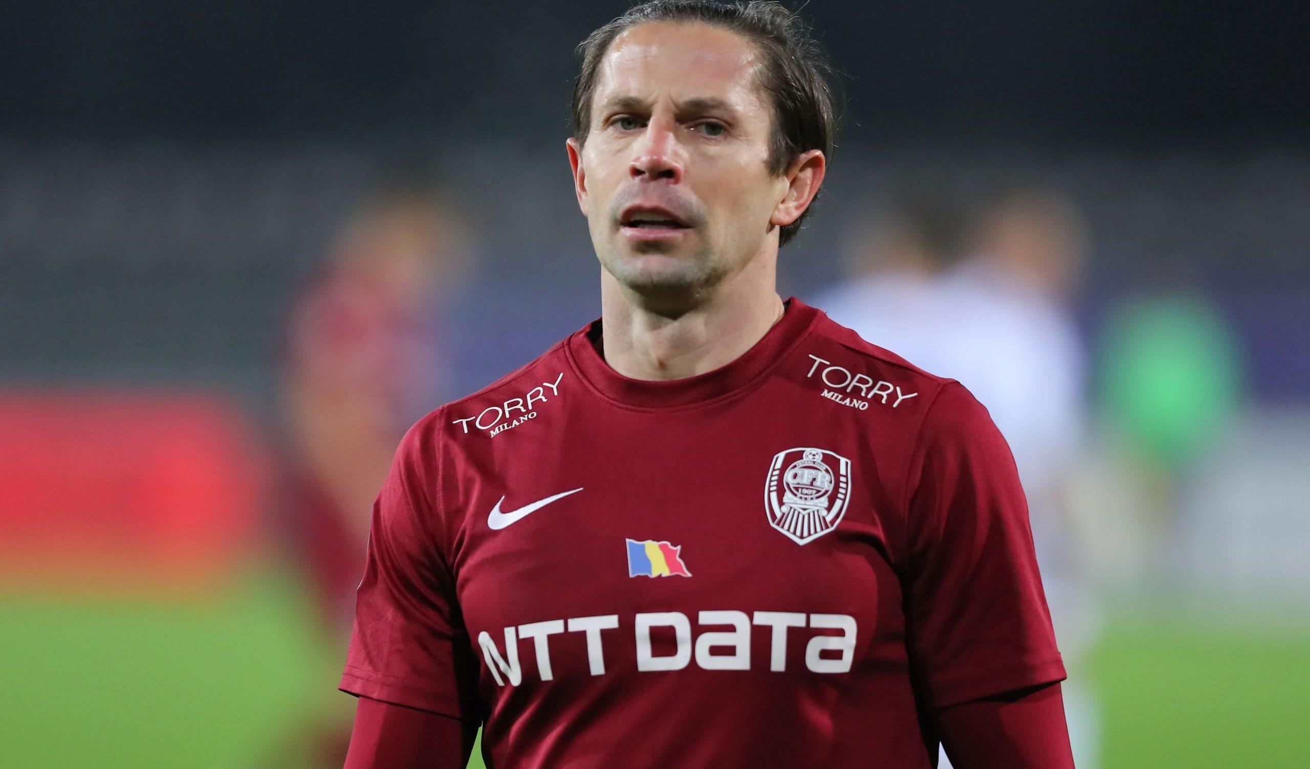 Ciprian Deac în timpul meciului dintre CFR Cluj și FC Argeș