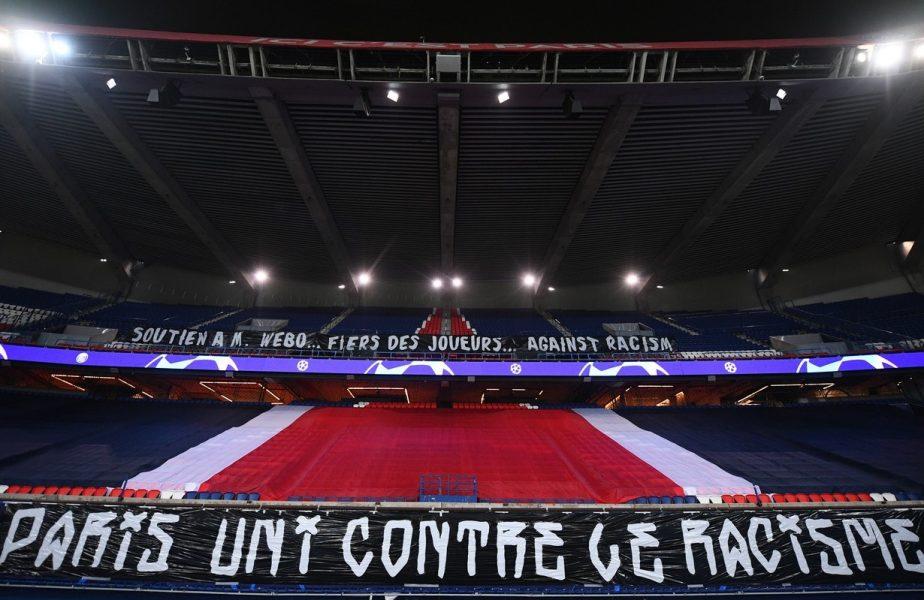 Suporterii lui PSG, mesaje de susținere pentru Pierre Webo! Neymar şi restul jucătorilor s-au aşezat în genunchi
