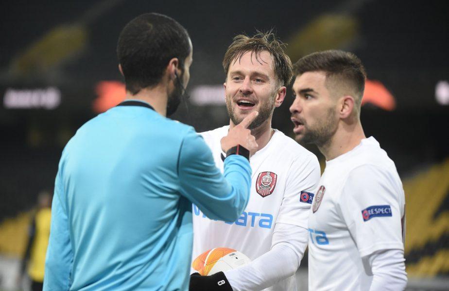 """Acționarii de la CFR, șocați de arbitrajul din Europa League: """"Suntem prea mici!"""". Ardelenii au ratat primăvara europeană după un final nebun"""
