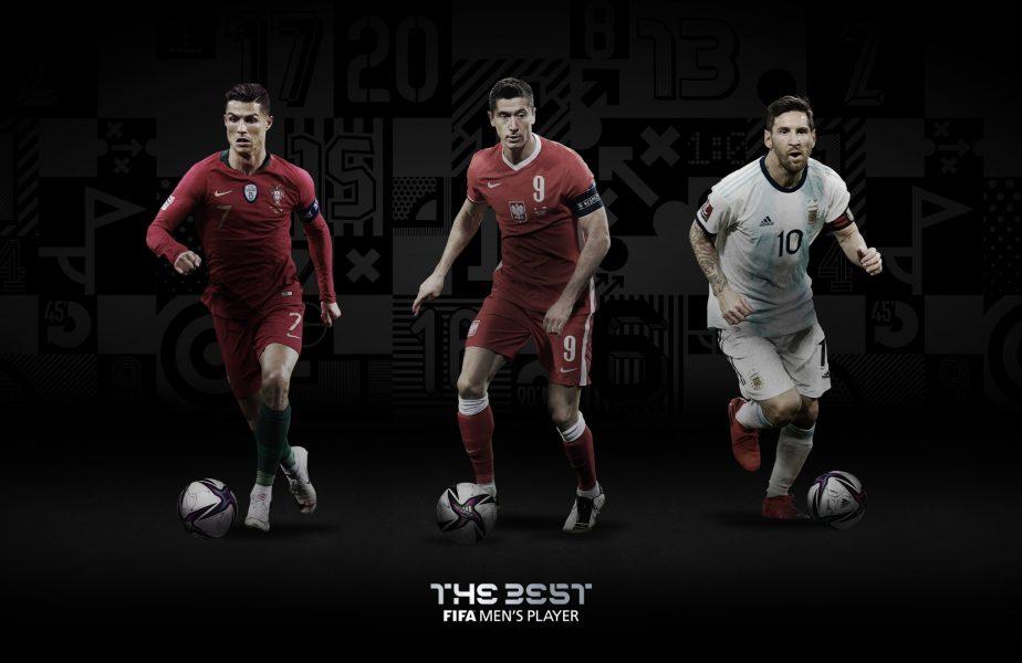 """Lewandowski, Messi și Cristiano Ronaldo, finaliștii pentru trofeul """"Jucătorul anului 2020""""! Cine are cele mai mari șanse"""