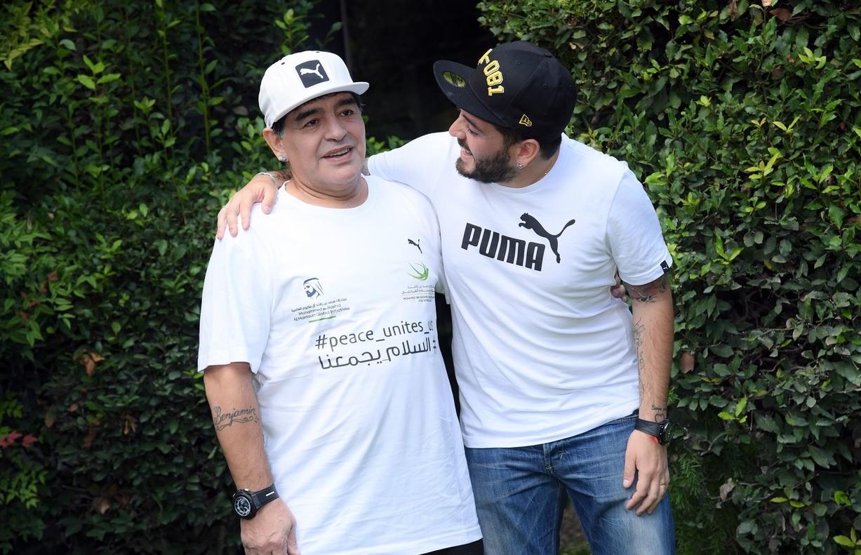 Diego Armando Maradona și fiul său, Diego Armando Maradona Junior