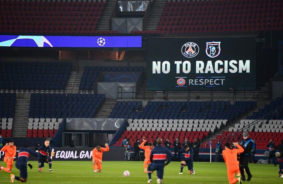 Jucătorii de la PSG și Bașakșehir protestează împotriva rasismului