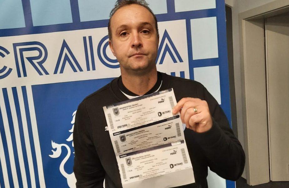 Cornel Papură și-a luat bilet la meciul dintre Universitatea Craiova și FCSB! Reacția suporterilor la prețurile biletelor virtuale
