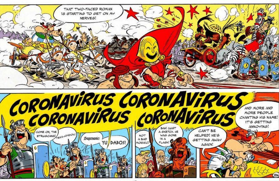 Asterix și Obelix se duelau cu… Coronavirus încă de acum 2.000 de ani, într-o întrecere de care de luptă!