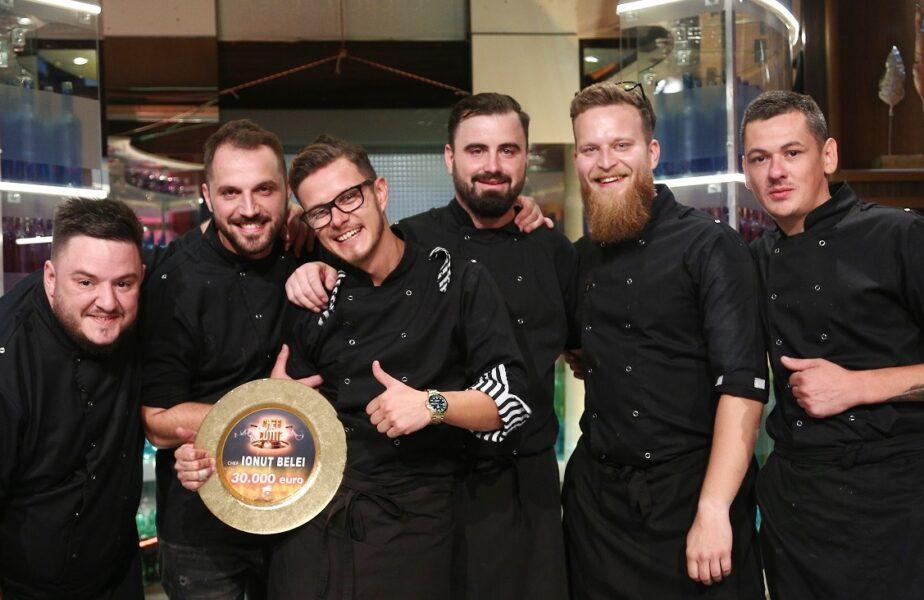 Ionuț Belei este marele câștigător al sezonului 8 Chefi la cuțite. Finala a obținut cele mai mari cifre de la lansarea show-ului