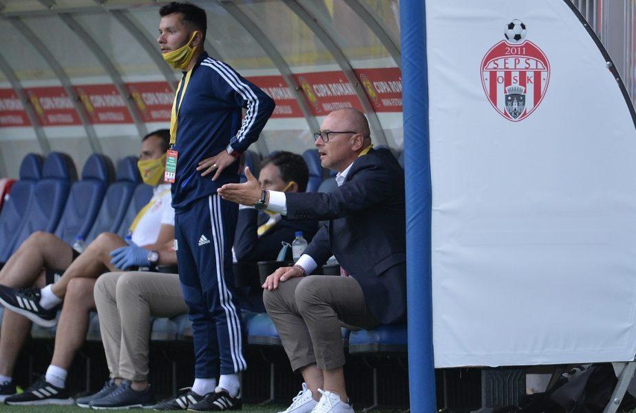 """Sepsi – UTA Arad 3-0. Safranko a reuşit """"dubla"""". Gol superb marcat şi de Cătălin Golofca. Pentru echipa lui Grozavu urmează meciul cu FCSB"""