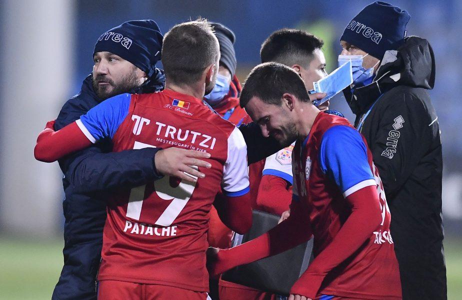 Botoșani – Voluntari 1-1. Marius Croitoru, eliminat după fluierul de final! Moldovenii nu termină anul pe loc de play-off