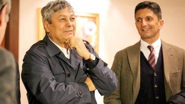 Mircea Lucescu şi Răzvan Lucescu, după promovaarea Rapidului