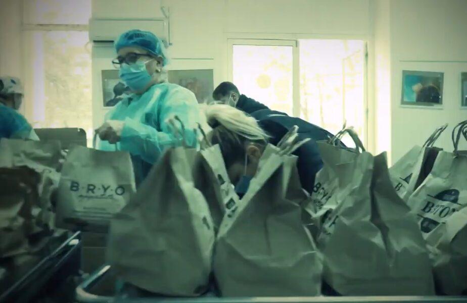 VIDEO Jucătorii de la FCSB s-au implicat într-o campanie umanitară! Dennis Man și Florinel Coman, alături de cadrele medicale