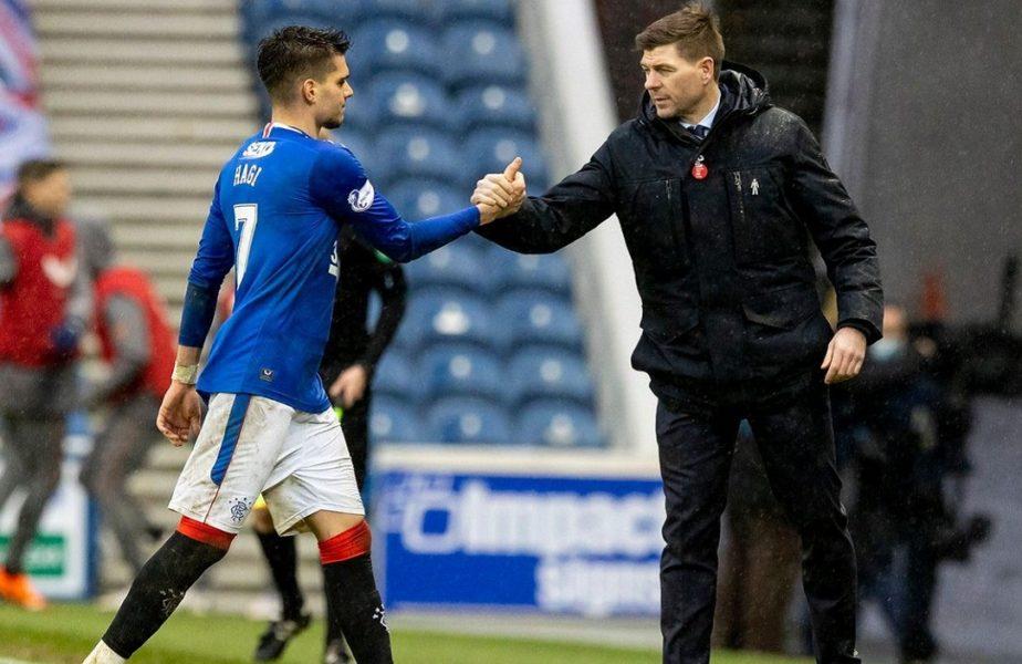 Rangers – Celtic 1-0. Ianis Hagi a intrat după pauză! Echipa lui Steven Gerrard își continuă seria de invincibilitate în Scoția