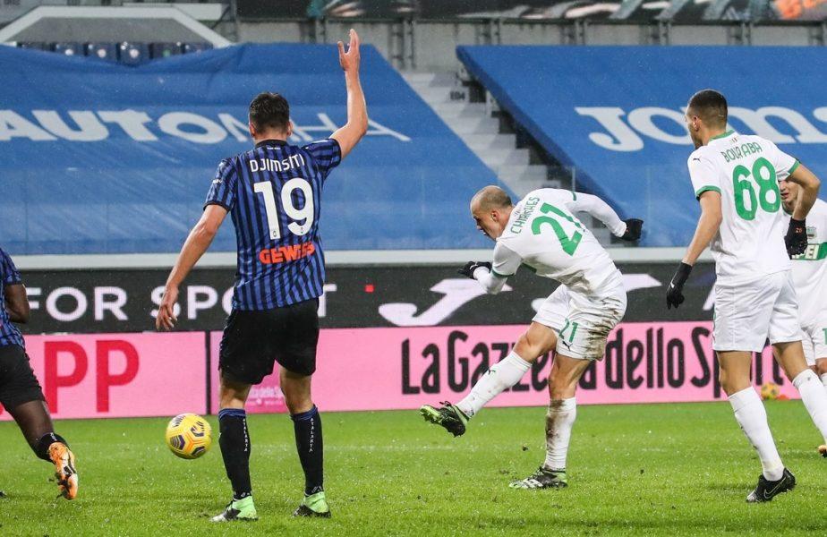 Vlad Chiricheș a marcat într-un meci de coșmar! Apărarea lui Sassuolo a fost făcută praf și a luat 5 goluri de la Atalanta