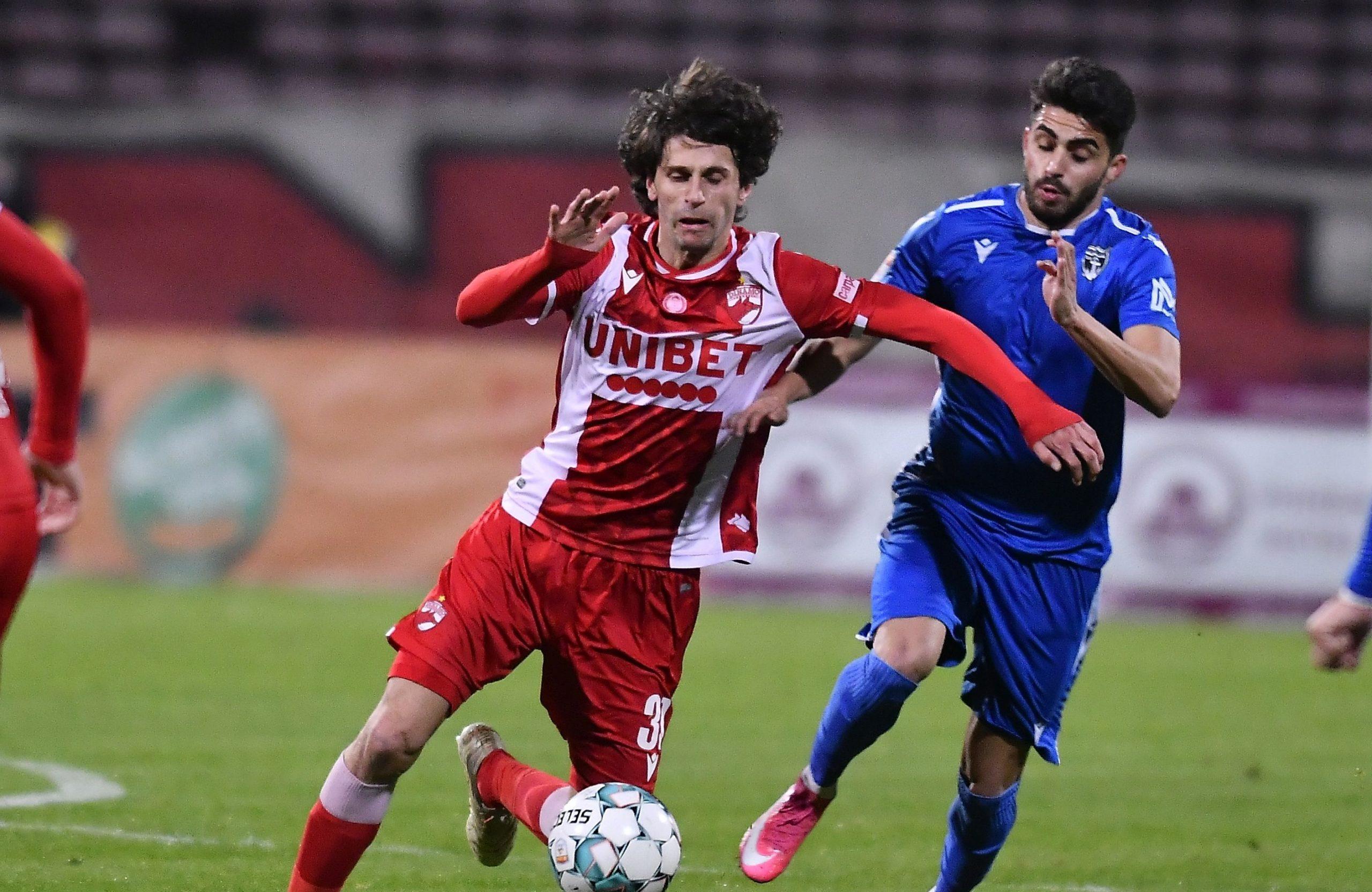 Diego Fabrini în timpul unui meci pentru Dinamo