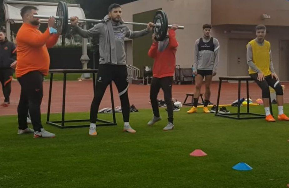 VIDEO Cu Neubert nu-i de glumă! Jucătorii de la FCSB trag din greu în Turcia! Două reveniri importante pentru Petrea