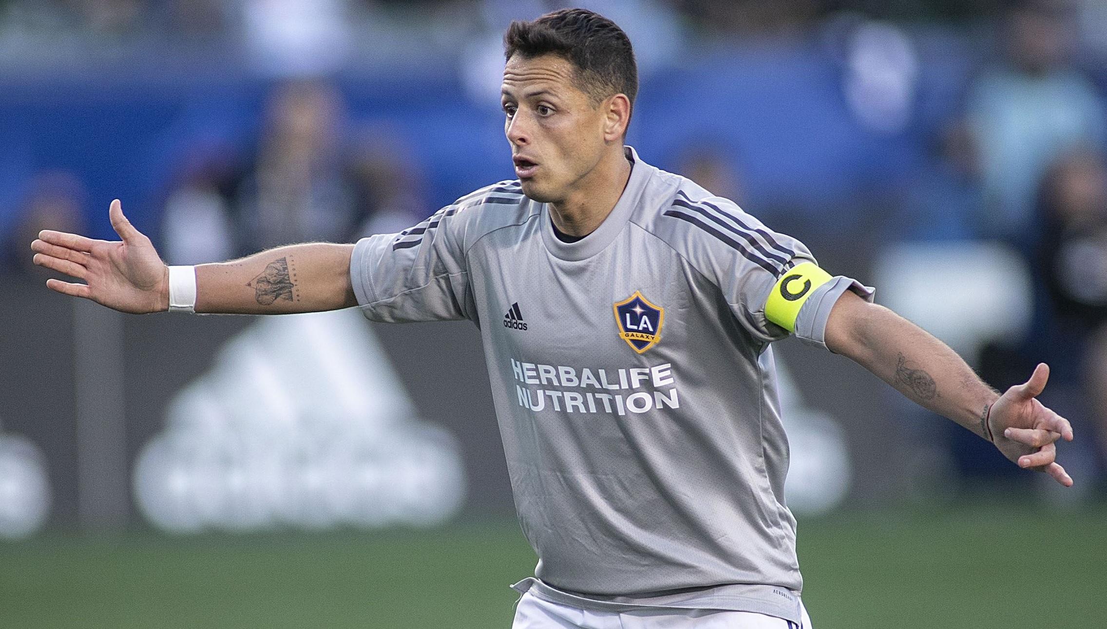 """""""Chicharito"""" Hernandez în timpul unui meci pentru LA Galaxy"""