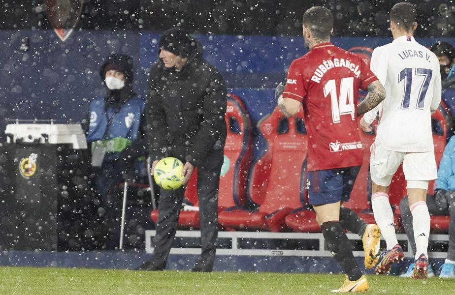 """Scandal uriaş în Spania, după Osasuna – Real Madrid 0-0. """"Avem familii, nu suntem marionete"""". Zidane şi Courtois, atacuri la oficialii din La Liga"""