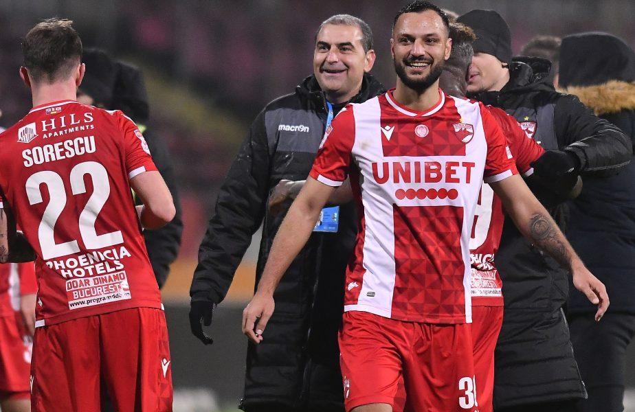 """Hermannstadt – Dinamo 0-2. Fără bani, """"câinii"""" au ajuns la două puncte de playoff. Fabbrini şi Nemec au rezolvat în trei minute meciul"""