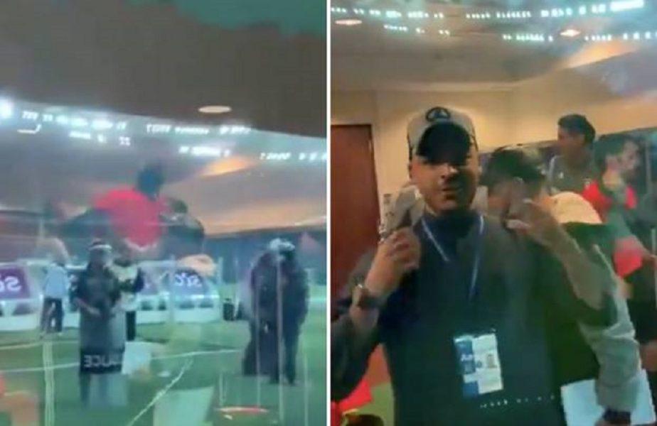 VIDEO | Momente unice în fotbal! Au câştigat Cupa, apoi au sărbătorit cu arbitrul în loja oficială! De bucurie, l-au aruncat pe braţe