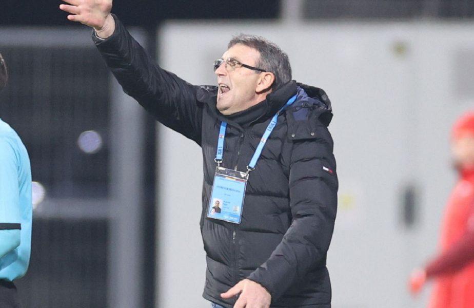 """""""N-au avut nicio ocazie timp de 78 de minute!"""". Eugen Neagoe nu crede că echipa sa merita să piardă cu FCSB. """"Jucam 2 zile și tot nu dădeau gol"""""""
