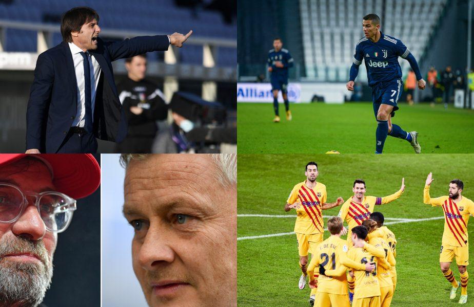 Inter – Juventus 2-0. Torinezii, la şapte puncte de primul loc! Barcelona-Bilbao 2-3, în finala Supercupei Spaniei. Liverpool – United 0-0