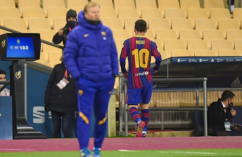 Lionel Messi a devenit pământean! A reacţionat violent şi a fost eliminat. Nu i se mai întâmplase în 15 ani şi 752 de meciuri!
