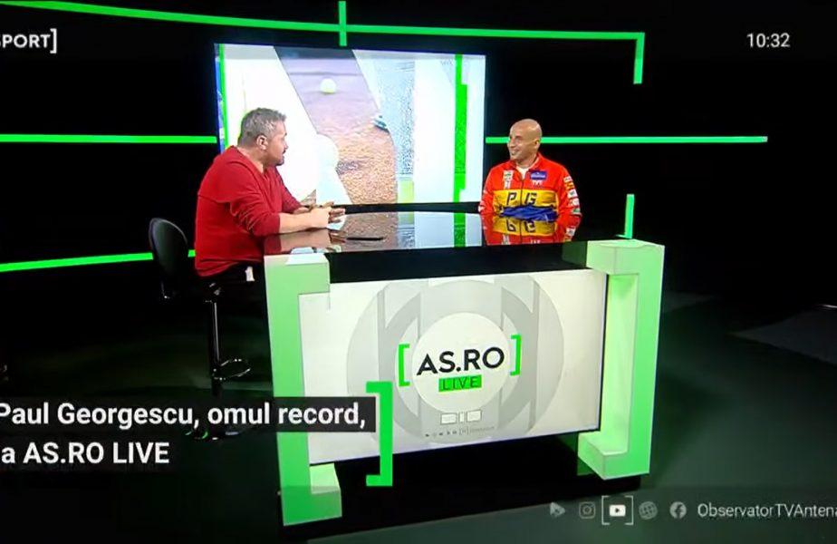 EXCLUSIV AS.ro LIVE | De pe Lacul Buftea, pe Canalul Mânecii! Dezvăluiri fabuloase ale lui Paul Georgescu. Cum a ajuns să doboare recorduri