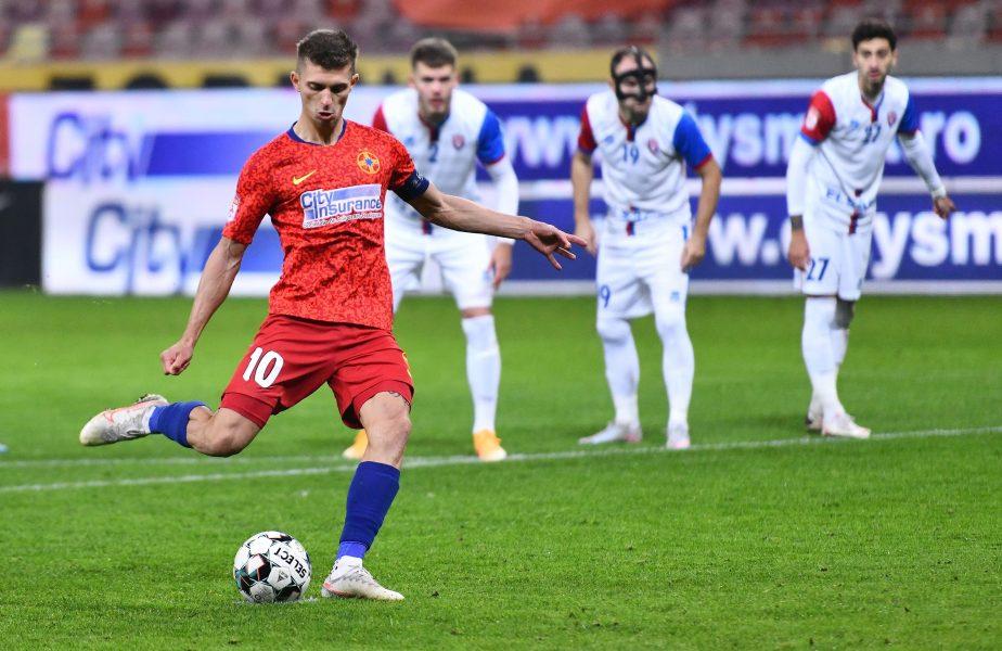 """Viitorul – FCSB 2-2. """"Strâmbe"""" în lupta la titlu. Primele puncte pierdute de echipa lui Petrea în 2021. Rednic, neînvins în faţa FCSB de 6 ani"""