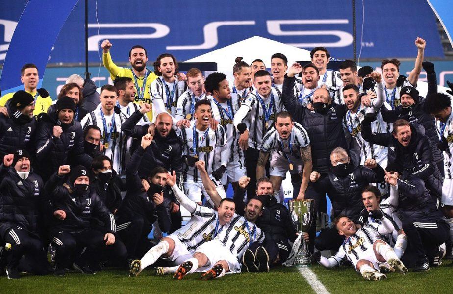 Radu Dragușin și imaginile pentru istorie. Românul, alături de Ronaldo și Chiellini după câștigarea Supercupei Italiei