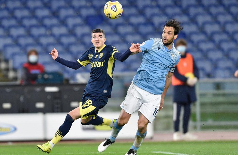 VIDEO | Nebunie totală! Valentin Mihăilă a marcat primul său gol la Parma, în super-meciul cu Lazio. Românul a avut și o bară. Finalul a fost dramatic