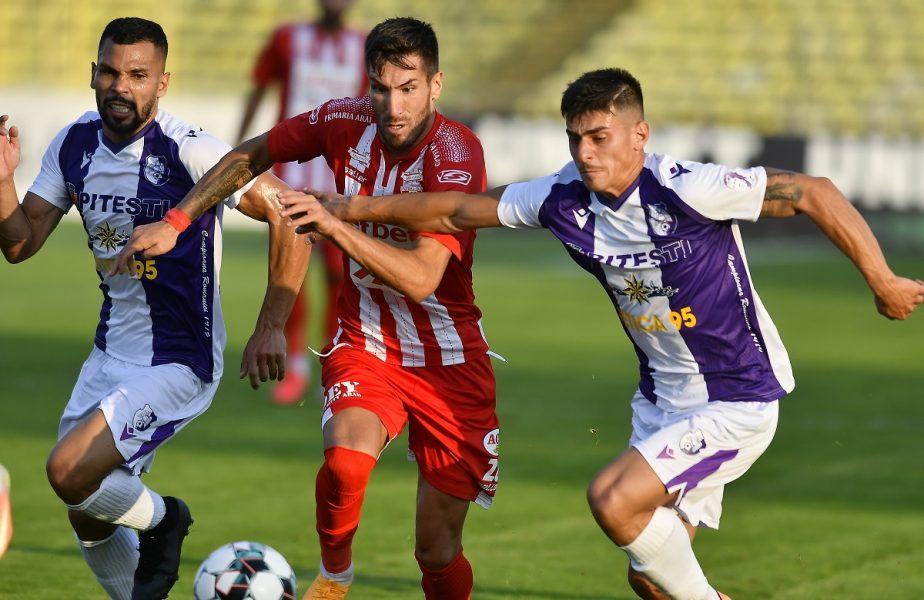 UTA Arad – FC Argeș 1-2. Meci nebun între nou-promovate. În minutul 85 era 0-0! Roger a înscris un gol de poveste, dar Antun Palic a răspuns incredibil