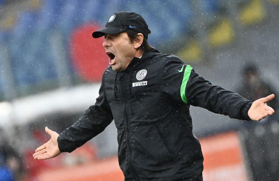 Antonio Conte nu s-a putut stăpâni! Antrenorul a sărit la gâtul arbitrului după Udinese – Inter 0-0. Ce suspendare riscă