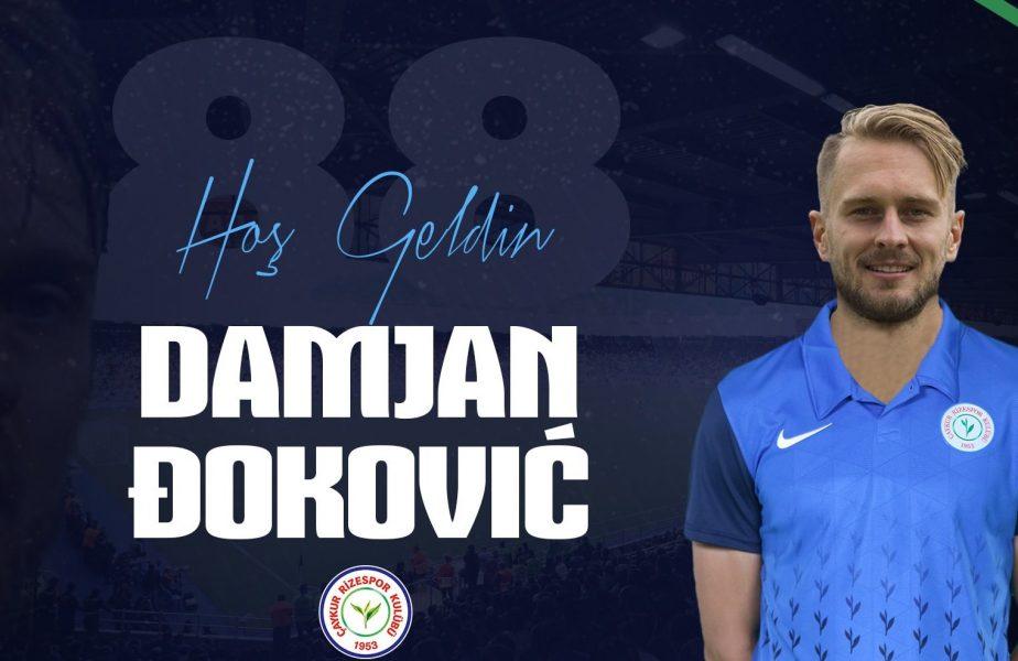 """OFICIAL Damjan Djokovic a semnat cu Rizespor! Toate detaliile contractului. """"Dan Petrescu mă va înţelege"""""""