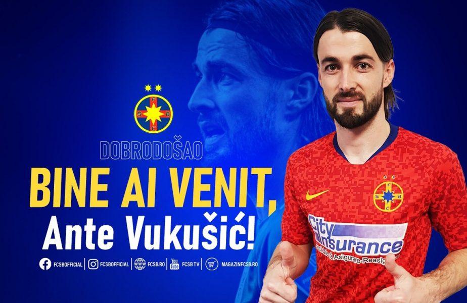 """OFICIAL   Ante Vukusic a semnat cu FCSB. Trebuie să-l facă uitat pe Dennis Man. """"Am fost atras de istoria glorioasă a clubului!"""""""