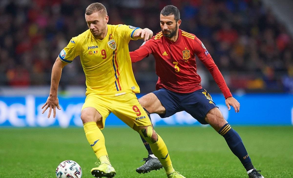 George Puşcaş, în tricoul echipei naţionale, se recuperează după o operaţie la muşchii inghinali şi va reveni luna viitoare pe teren, la timp pentru a juca în preliminariile CM 2022, în martie