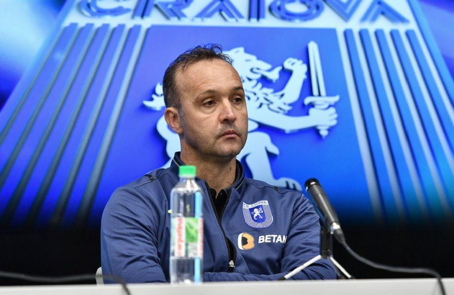 """Craiova a uitat să câştige, dar Papură e bucuros: """"N-am pierdut de şase meciuri!"""". Ce a spus despre negocierile dintre Mihai Rotaru şi Laurenţiu Reghecampf"""