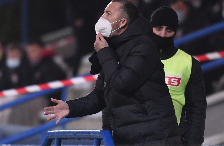 """Mihai Stoica a răbufnit în timpul meciului Chindia – CFR Cluj 0-1: """"Păi, cum facem cu antebraţul lui Ben Youssef?"""""""