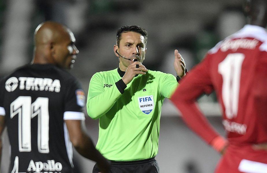Sebastian Colţescu va arbitra Dinamo – FCSB! E cel mai tare meci de care are parte după scandalul de rasism din Liga Campionilor