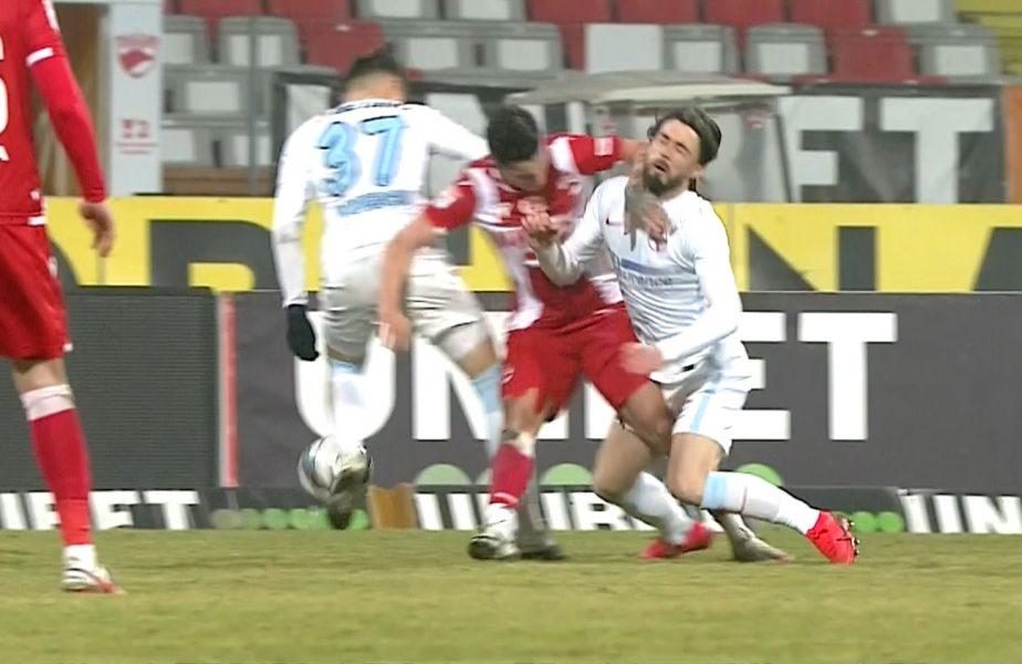 Debut pentru Ante Vukusic în Dinamo – FCSB! Atacantul, aproape de o accidentare gravă la prima atingere de balon. Steliano Filip, eliminat