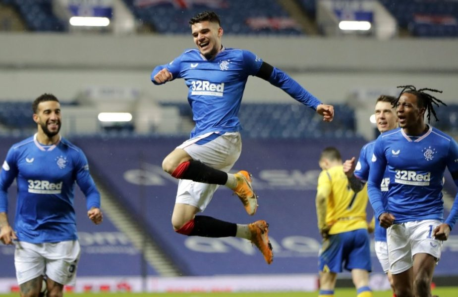 """Reacţia lui Ianis Hagi după golul senzaţional marcat în Rangers – St Johnstone 1-0. """"Ştiam că ne trebuie ceva magic. E o calitate de-a mea"""""""