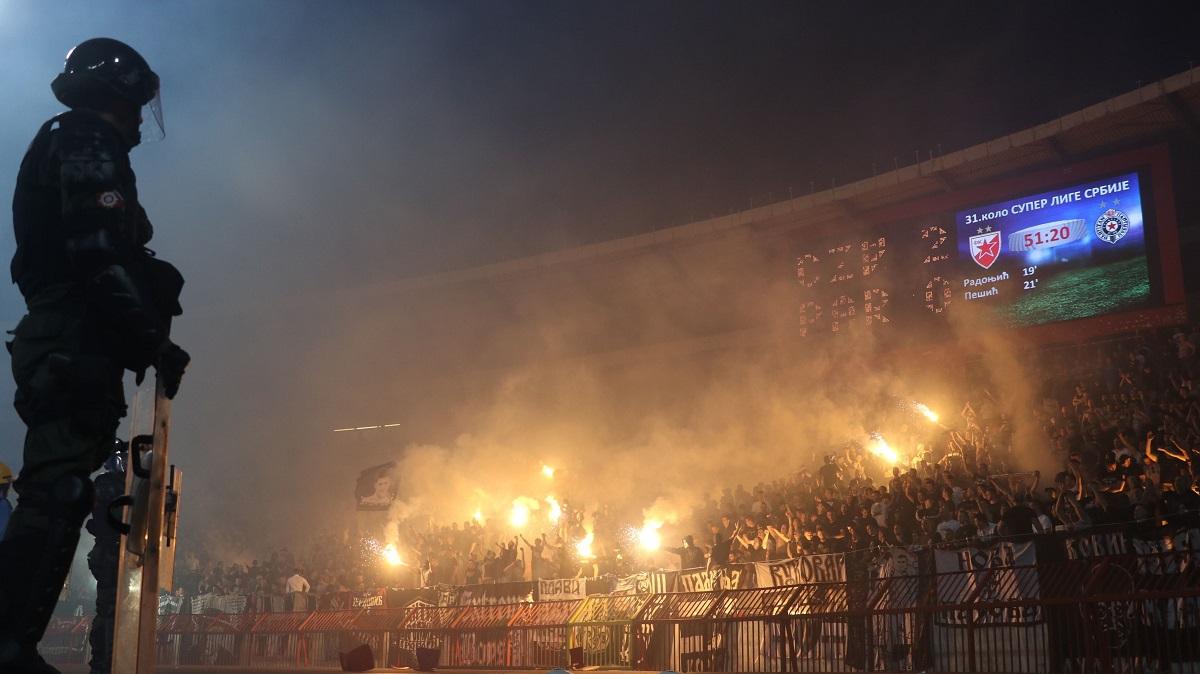 Poliţiştii, pe stadioanele din Belgrad