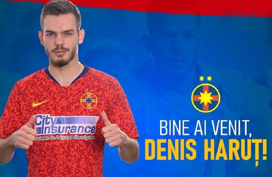 """Primele declaraţii ale lui Denis Haruţ, după ce a semnat cu FCSB. """"Este un pas foarte mare în cariera mea"""". De ce trebuie să le calce pe urme lui Rădoi şi Belodedici"""