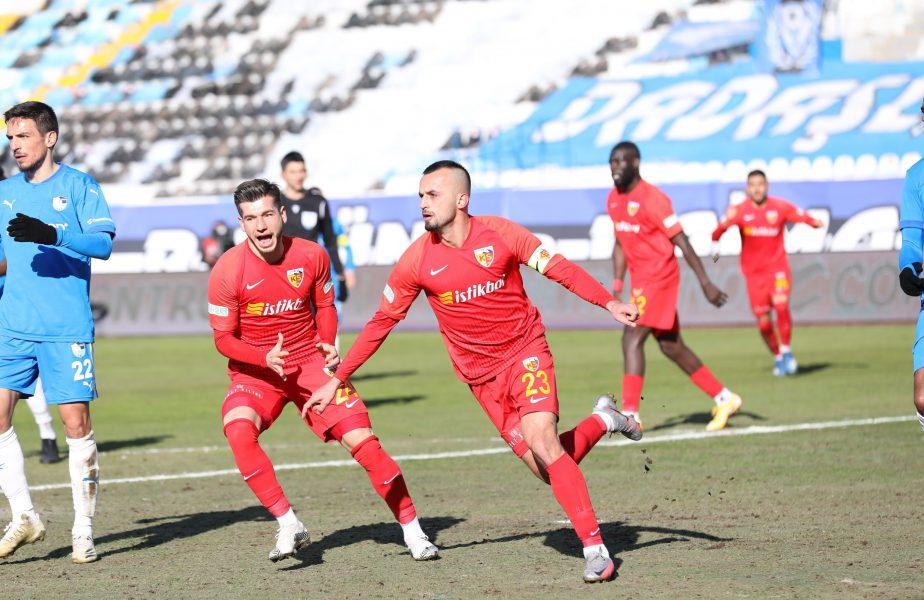 Erzurumspor – Kayserispor 1-1. Echipa lui Dan Petrescu a jucat o oră în superioritate numerică. Niciun român pe teren. Luckassen, integralist