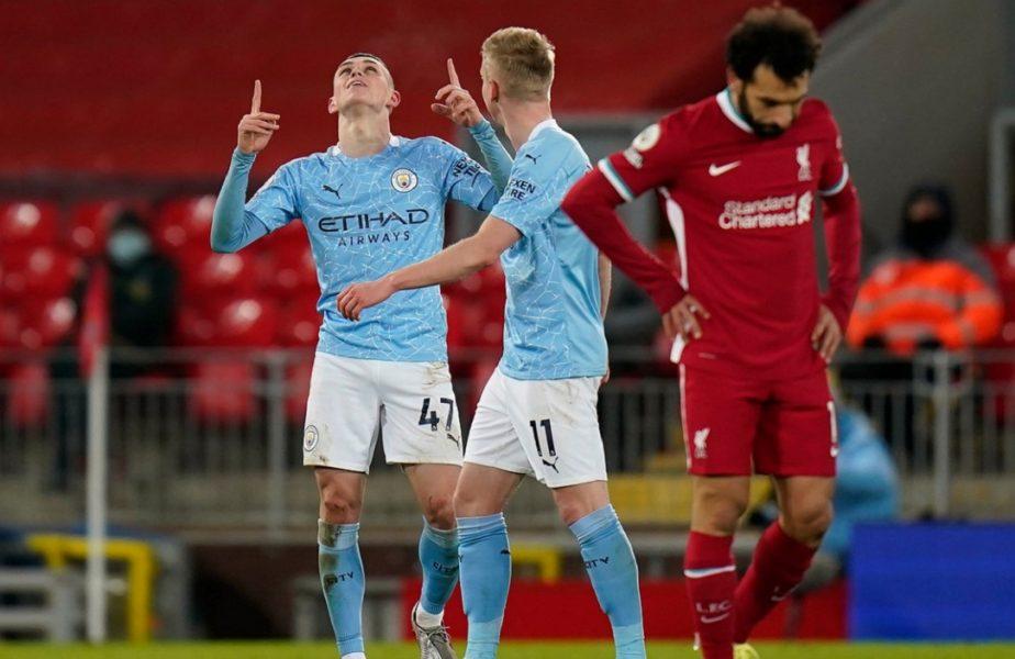 Dezastru pentru Liverpool! City a făcut instrucție pe Anfield și a câștigat cu 4-1. Alisson s-a făcut de râs cu două gafe incredibile